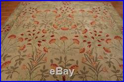 Old Hand Made Beige Traditional Nain Floral Zieglar Oriental Wool Area Rug