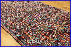 Old Wool Hand Made Oriental Floral Runner Area Rug Carpet 276x92 CM
