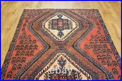 Old Wool Hand Made Persian Oriental Floral Runner Area Rug Carpet 180x 125 CM