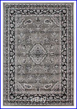 Oriental Classic Traditional Rug, Grey Silver, Variations Sizes Carpet