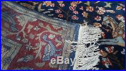 PERSIAN CARPET RUG HAND MADE Antique WOOL traditional HUNTING FIELD 6FT X 4FT