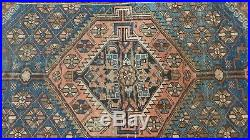 PERSIAN CARPET RUG HAND MADE Antique WOOL traditional Maglazan area 5ft 9 x 4ft
