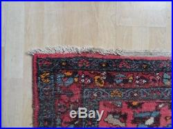 PERSIAN CARPET RUG Traditional hand made ANTIQUE wool 6ft 2 X 3FT 5 C1890