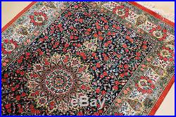 Persian hand knotted 100%Pure Natural Silk Qom Quality Rug-Carpet, Vegetable Dye