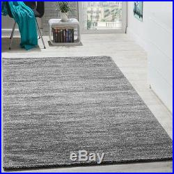 Plain Grey Rug Living Room Small Extra Large Short Pile Thick Soft Good Quality