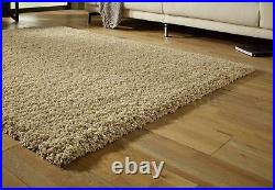 Small Extra Large Thick Shaggy Shag Pile Light Golden Beige Sand Rug. Overstock