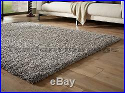Small Extra Large Thick Shaggy Shag Pile Silver Grey Rug. Overstock Clearance