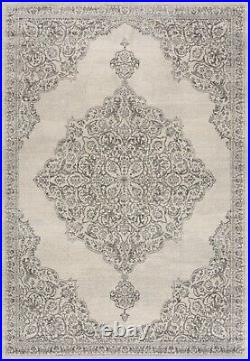 Small Large Cheap Rug Living Room Soft Dense Pile Traditional Design Cream New