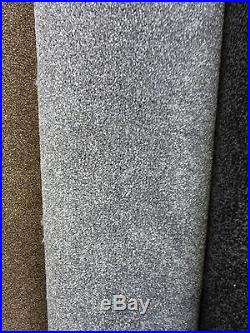 Super SOFT 15mm THICK SILVER GREY Saxony 6m x 4m Carpet Remnant FREE DELIVERY