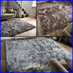 Super Soft Deep Pile Thick Shaggy Rug in Duckegg, Silver Mink and 3 Sizes Carpet