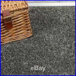 TRENDY 12mm Thick Soft Dark Grey Silver Action Back 4m Wide Carpet Remnant