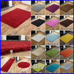 Thick Modern High Plain Soft Non-shed Low Cost Large Shaggy Rug / Round / Runner