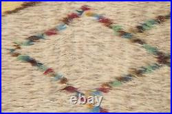 Thick-Plush Geometric Modern Moroccan Berber Oriental Area Rug Hand-knotted 8x10