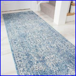 Traditional Duck Egg Faded Border Rug Distressed Blue Large Rug Large Room Rugs
