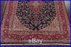 Traditional Floral NAVY/RED Kashmar Oriental Area Rug Wool Hand-Knotted 10'x13