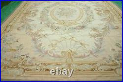 Vintage French Aubusson wool hand knotted HANDMADE rug 380 x 270 cm