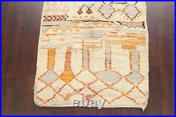 Vintage Geometric Tribal Moroccan Oriental Area Rug Hand-knotted Plush Wool 5x8