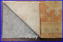 Vintage Muted 14 ft Runner Oushak Egyptian Stair Rug Hand-Knotted 13' 6 x 2' 6