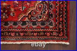Vintage RED Traditional Floral Hand-knotted Area Rug Wool Oriental 4'x5' Carpet