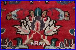 Vintage Traditional Floral RED Sarouk Area Rug Living Room Hand-made Wool 9'x12