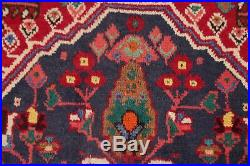 Vintage Tribal Abadeh Area Rug Wool Hand-Knotted Oriental Geometric Carpet 6 x 9