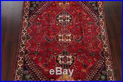 Vintage Tribal Abadeh Geometric Oriental Area Rug Wool Hand-Knotted 6'x9' Carpet