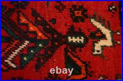 Vintage Tribal Abadeh Hand-Knotted Area Rug Wool Geometric Oriental Carpet 4'x5