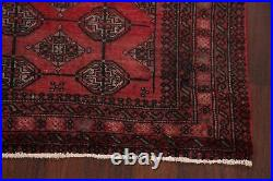 Vintage Tribal Balouch Geometric Afghan Area Rug Hand-knotted Kitchen Carpet 4x6