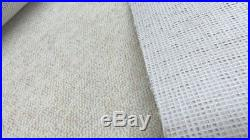 WOOL Cream Berber Action Back carpet remnant 4.5m x 4m FREE DELIVERY